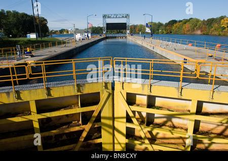 Seneca Falls New York Canal Lock - Stock Photo