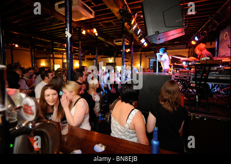 The Fleece live music venue during a performance by Frank Musik in Bristol UK - Stock Photo