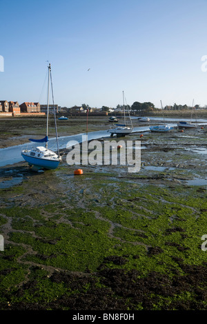 View in Emsworth of Chichester Harbour at low tide.  Emsworth. Hampshire. UK. - Stock Photo