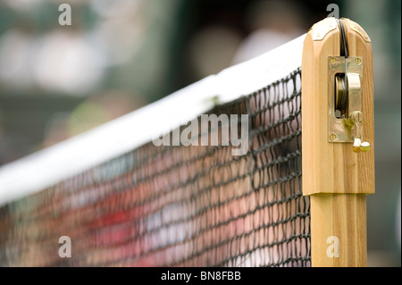 Net and post detail during the Wimbledon Tennis Championships 2010 - Stock Photo