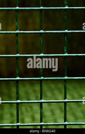 Closeup of a prison gate - Stock Photo
