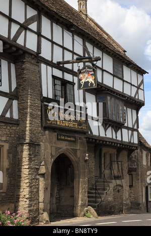 The George Inn, Norton St Philip, Somerset, England - Stock Photo