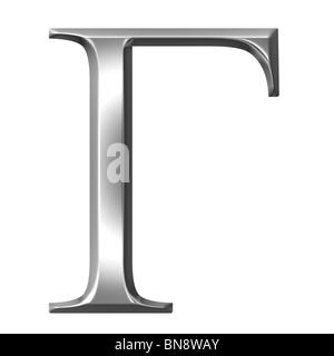 3d silver Greek letter Gamma - Stock Photo