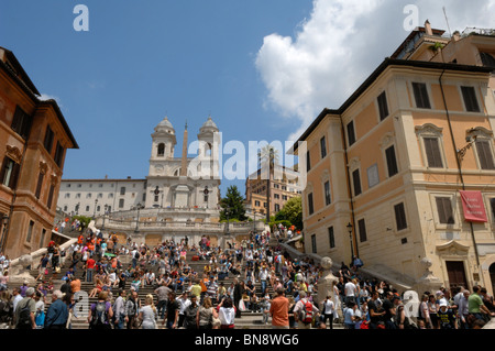 The Spanish Steps in Rome, Italy - Stock Photo