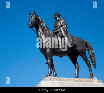 London - statue of king George IV - Stock Photo