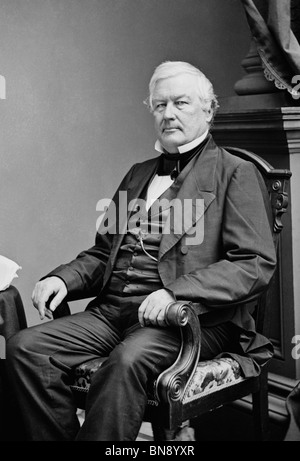 Portrait photo circa 1850s of Millard Fillmore (1800 - 1874) - the 13th US President (1850 - 1853). - Stock Photo