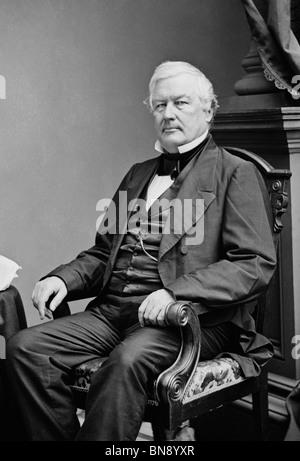 Portrait photo circa 1850s of Millard Fillmore (1800 - 1874) - the 13th US President (1850 - 1853). - Stock Photo