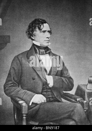 Daguerreotype portrait photo circa 1850s of Franklin Pierce (1804 - 1869) - the 14th US President (1853 - 1857). - Stock Photo