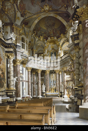 Wurzburg Hofkappelle, the chapel of the Wurzburg Residenz, by Balthasar Neumann, 1732-44. German Baroque - Stock Photo