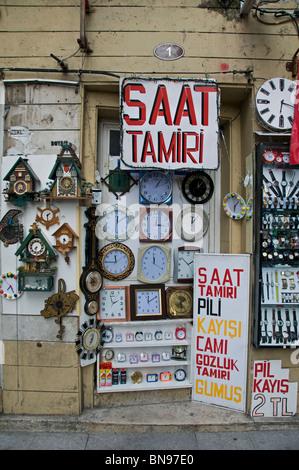 Istanbul Turkey Kadadikoy Market clock timepiece - Stock Photo