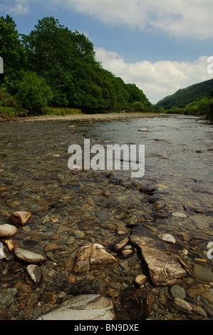 The Grogwynion SSSI (Site of special scientific interest) on the river Ystwyth, inland from Aberystwyth, Ceredigion, - Stock Photo