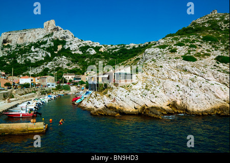 CALANQUE OF CALLELONGUE, MARSEILLE, PROVENCE, FRANCE - Stock Photo