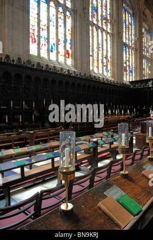 The interior of Kings College Chapel, Cambridge, England - Stock Photo
