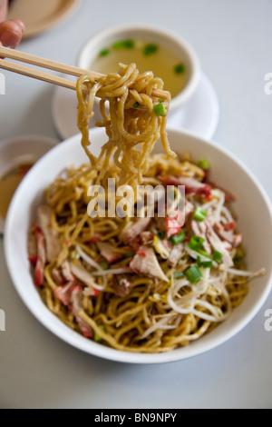 Dry Noodles, local Chinese Hawaiian food at Sam Sato's Noodle Shop in Wailuku, Maui, Hawaii - Stock Photo