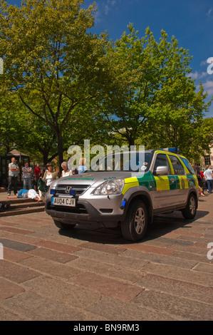A 4 wheel drive ambulance in Norwich , Norfolk , England , Great Britain , Uk - Stock Photo