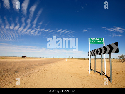Birdsville race track sign - Stock Photo