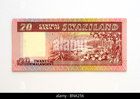 Swaziland Twenty 20 Lilangeni Bank Note. - Stock Photo