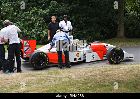 McLaren-Cosworth MP4-8 Formula One Racing Car at Goodwood Festival of Speed West Sussex England United Kingdom UK - Stock Photo