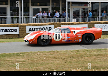 Can Am Lola T-70 Sports Racing GT Race Car at Goodwood Festival of Speed West Sussex England United Kingdom UK - Stock Photo