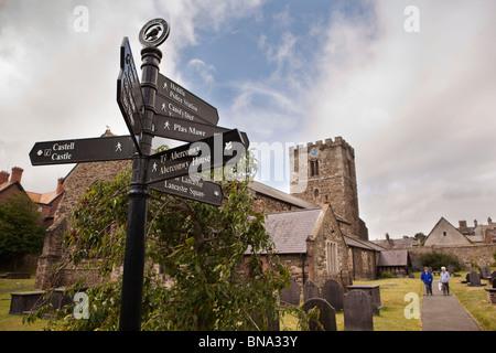 UK, Wales, Gwynedd, Conway, St Mary and All Saints parish Church, pre-English historic monastery
