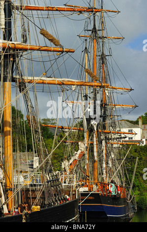 Tall Ships in Charlestown Harbour - Stock Photo