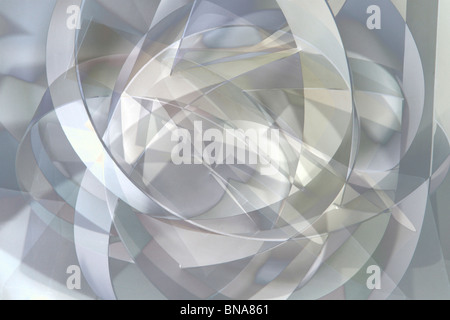 Abstract curve development in black and white - Stock Photo