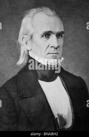 Daguerreotype portrait photo circa 1840s of James K Polk (1795 - 1849) - the 11th US President (1845 - 1849). - Stock Photo