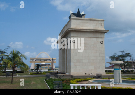 Africa, Ghana, Accra. Independence Square, Freedom Arch. - Stock Photo