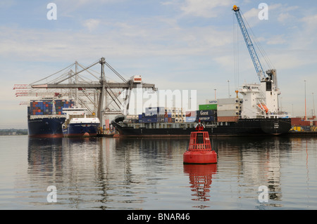 DP World ABP Southampton England UK  A large container port in southern England - Stock Photo