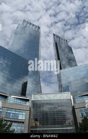 a picture of the time warner building in new york city america - Stock Photo