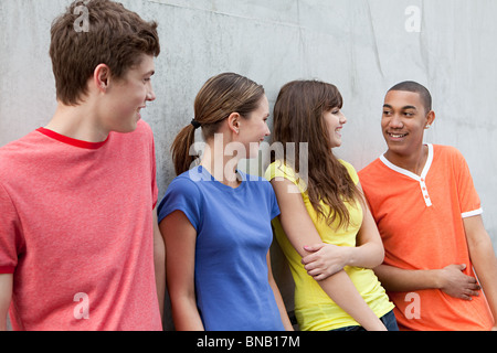 Four young friends - Stock Photo