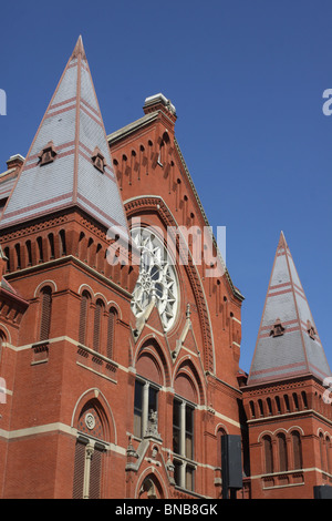 Music Hall downtown Cincinnati historic opera house - Stock Photo