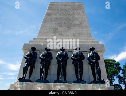 First & Second World War memorial opposite Horseguards Parade, London - Stock Photo