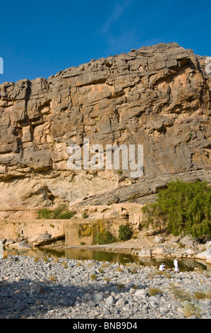 Wadi Ghul Al Dakhiliyah region  Sultanate of Oman - Stock Photo