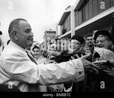 LYNDON B JOHNSON Campaigning In The 1964 US Presidential Elections Which He Won