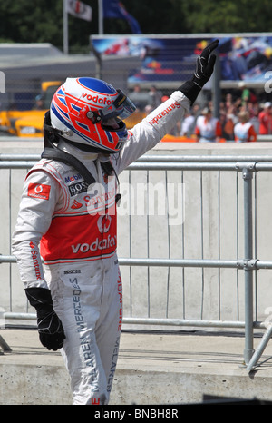 Jenson Button at British Formula 1 Grand Prix, Silverstone, 11th July 2010 - Stock Photo