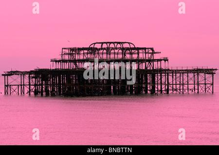West pier, Brighton, East Sussex, UK - Stock Photo