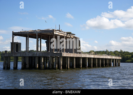former world war 2 II torpedo production testing station now a common tern colony nature reserve on lough neagh - Stock Photo