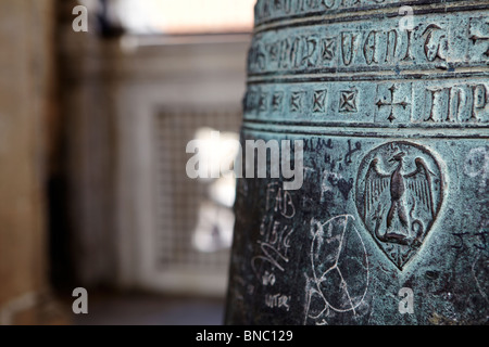 Detail of a bell at Giotto's Campanile in Florence, Italy - Stock Photo