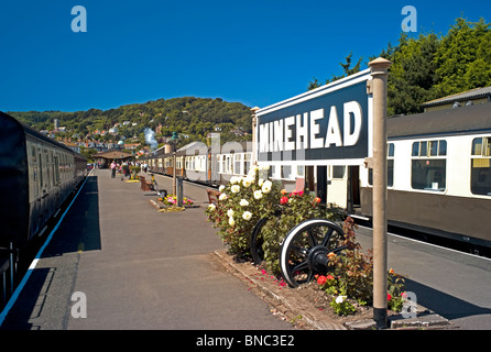 Minehead Station, West Somerset Railway, UK - Stock Photo