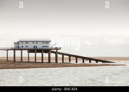 The RNLI lifeboat launching station on Roa Island, Barrow in Furness, Cumbria, UK. - Stock Photo