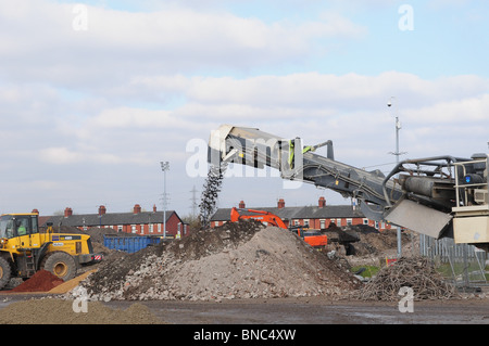 Ground work begins on the construction of the new indoor bmx centre at the National Cycling Centre Manchester - Stock Photo
