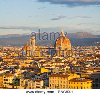 The Duomo (Basilica di Santa Maria del Fiore), Florence, Tuscany, Italy. - Stock Photo
