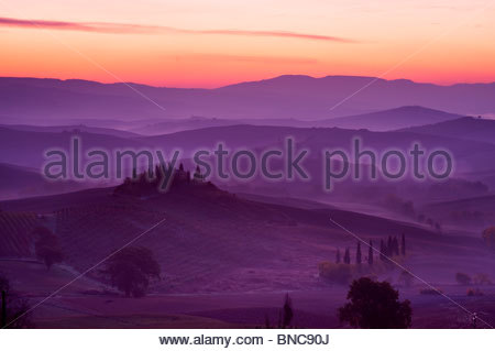 Podere Belvedere, near San Quirico D'Orcia, Tuscany, Italy. - Stock Photo