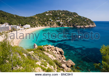 Cala De Sant Vicent, Ibiza, Balearic Islands, Spain. - Stock Photo