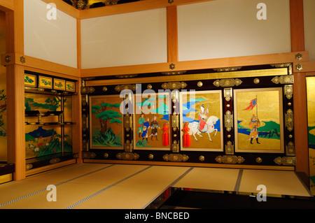 The Hall, Honmaru Goten Palace, Kumamoto Castle, Kumamoto Prefecture, Kyushu Region, Kyushu Island, Japan - Stock Photo