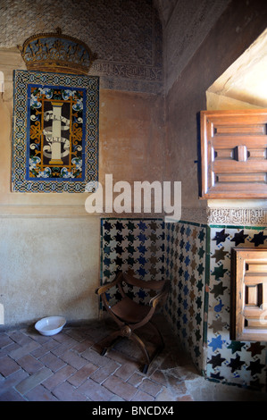 ... Interior of the Mexuar one of the first rooms in the Nasrid Palaces in  the Alhambra