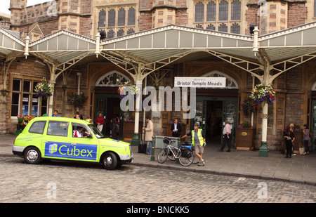 Bristol Temple Meads railway train station forecourt entrance exterior - Stock Photo