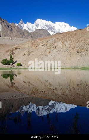 Borith Lake, Passu, Hunza Valley, Pakistan - Stock Photo