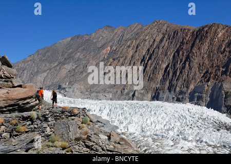 Passu glacier, Hunza Valley, Karakorum, Pakistan - Stock Photo